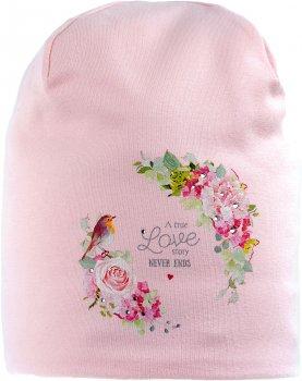 Демисезонная шапка Giamo J'Adore Paris PARG1 46-48 см Розовая (5903271505449)