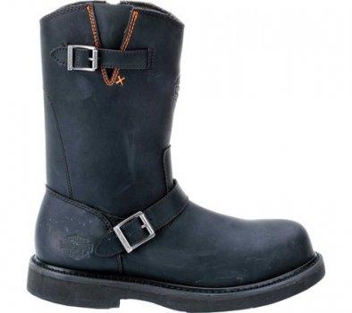 Чоловічі чоботи Harley-Davidson Jason Steel Toe Boot Black Leather (117531)