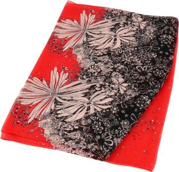 Шаль Traum 2495-13 Красная с черным (4820002495132)