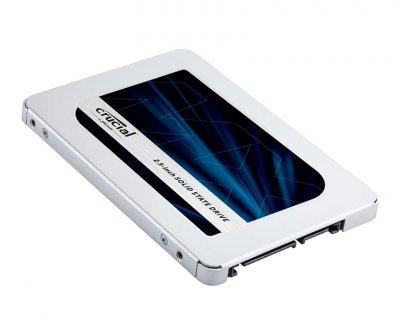 Твердотельный накопитель 250Gb, Crucial MX500, SATA3, 2.5', TLC, 560/510 MB/s (CT250MX500SSD1)