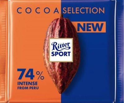 Шоколад Ritter Sport насичений темний 74% какао 100 г (4000417933003)