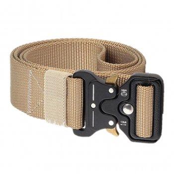 Ремінь тактичний Assault Belt з металевою пряжкою 125 см Пісочний