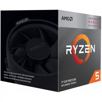 Процессор AMD Ryzen 5 3400G (YD3400C5FHBOX) BOX