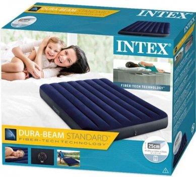 Надувная кровать Intex 137 х 25 х 191 см Синий (64758)