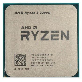 Процессор AMD Ryzen 3 2200G (3.5GHz 4MB 65W AM4) Tray (YD2200C5M4MFB)