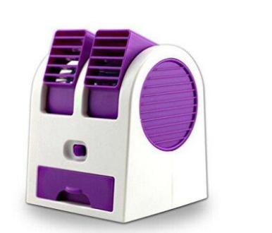 Настольный портативный вентилятор-кондиционер USB HB-168 Фиолетовый (Т43-3)