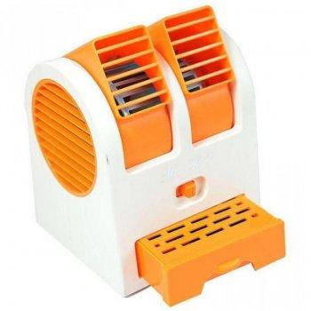 Настольный портативный вентилятор-кондиционер USB HB-168 Оранжевый (Т43-2)