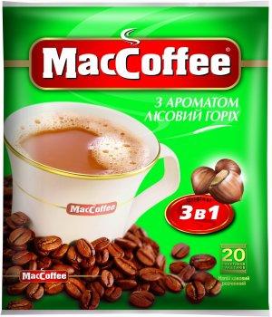 Кофе MacCoffee 3 в 1, Лесной Орех 20 стиков (170412)