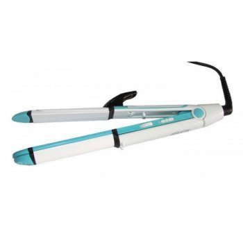 Плойка стайлер праску випрямляч для волосся професійна з гофре Gemei GM-2921 3 в 1 Блакитна