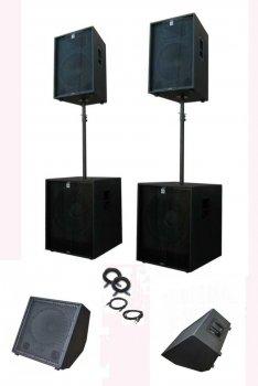 Комплект професійної акустики Sound Division Turbo2000+ 3100Вт з моніторами сабвуферами