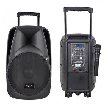"""Активна колонка NGS PMQ10AH-V1BP-BT 10"""" 100W з мікрофоном і батареєю"""