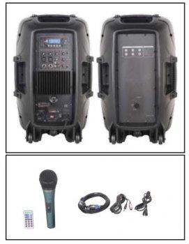 """Комплект звукового оборудования NGS PRORECK PARTY 12 2*12"""", 300W с микрофоном"""
