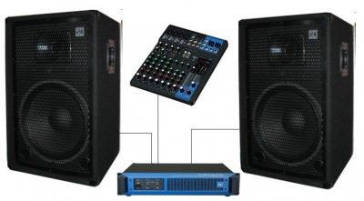 """Комплект звукового оборудования Sound Division DJ-15SA2Y 700Вт, 15"""""""