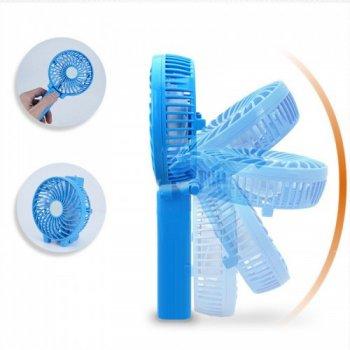 Ручний міні вентилятор трансформер Kronos handy mini fan з акумулятором 18650 White (gr_007249)