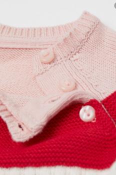 В'язаний джемпер на дівчинку 6035 HM Рожевий
