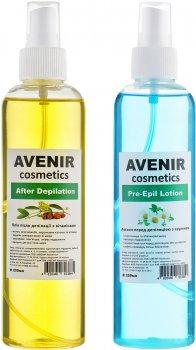Набір засобів для депіляції Avenir Cosmetics Лосьйон і Олія 250 мл х 2 шт. (4820440814564)