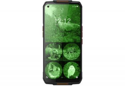 Мобильный телефон Oukitel WP7 8/128Gb 4G(LTE) Black-Orange 8000 мАч (С инфракрасной камерой ночного видения)