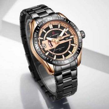 Наручний годинник AlexMosh чоловічі Naviforce NF9157 Black-Cuprum (47)
