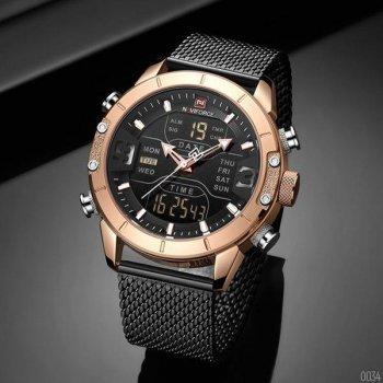 Наручний годинник AlexMosh чоловічі Naviforce NF9153S Black-Cuprum (53)