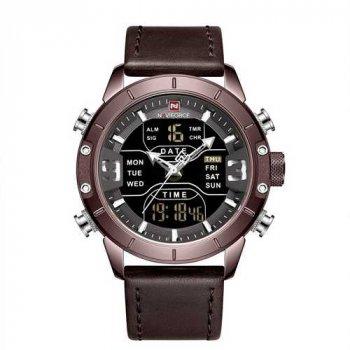 Наручний годинник AlexMosh чоловічі Naviforce NF9153L Brown-Black (57)