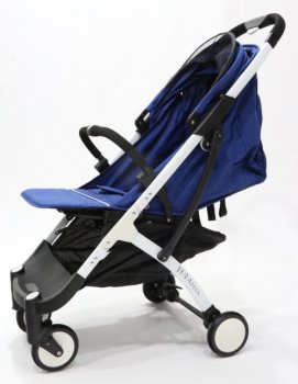 Детская прогулочная коляска YOYA PLUS Синий (рама белая/чёрная)