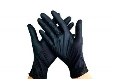 Перчатки медицинские нитриловые смотровые нестерильные неприпудренные Igar M черный