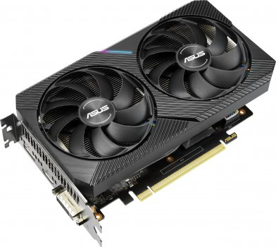 Asus PCI-Ex GeForce RTX 2060 Dual Mini OC 6GB GDDR6 (192bit) (1365/14000) (DVI-D, HDMI, DisplayPort) (DUAL-RTX2060-O6G-MINI)