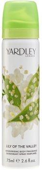 Дезодорант-спрей для женщин Yardley Lily of the Valley 75 мл (5060322952406)