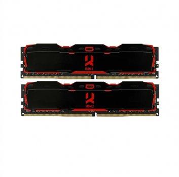 Модуль пам'яті DDR4 2x4GB/3000 GOODRAM Iridium X Black (IR-X3000D464L16S/8GDC)