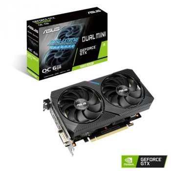 Відеокарта GF GTX 1660 Super 6GB GDDR6 Dual Mini OC Asus (DUAL-GTX1660S-O6G-MINI)