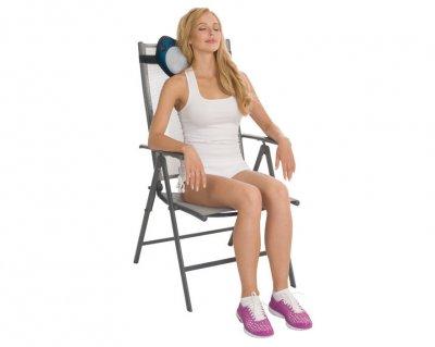 Массажная подушка Us Medica Apple для массажа шеи, спины и ног с подогревом Оранжевый