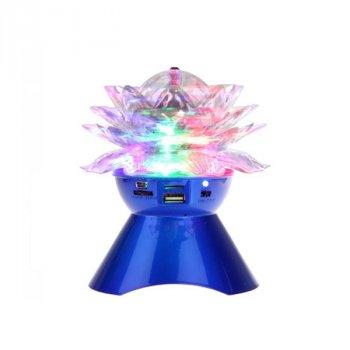 Портативная Bluetooth колонка NEEKA Glowing Crystals A19Mono Blue (A19BL)
