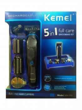 Проффесиональная машинка для стрижки Kemei LFQ-KM-690 5в1 Триммер Стайлер Бодигруммер