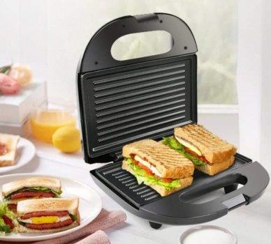 Бутербродниця сендвичница гриль електрична A-Plus AP-2034 750Вт Чорна