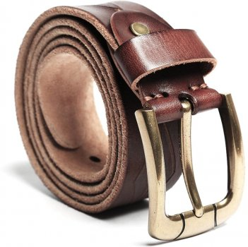 Мужской ремень Vintage leather-20132 Коричневый