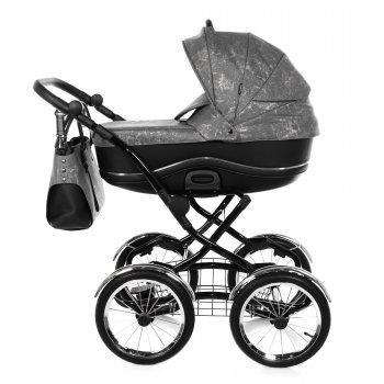 Всесезонна дитяча коляска 2 в 1 для новонароджених Tako Bella Donna 03 Чорний з сірим
