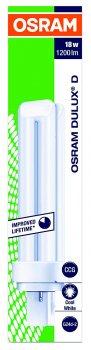 Люмінесцентна лампа OSRAM Dulux D 18W 1200Lm 4000К 220V G24d-2 (4050300012056)