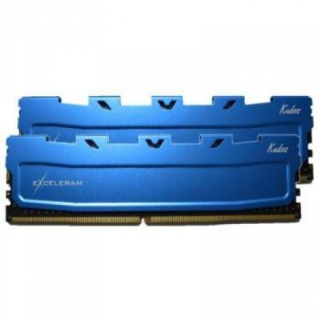 Модуль пам'яті для комп'ютера DDR4 16GB 2x8GB 2133 MHz Blue Kudos eXceleram (EKBLUE4162114AD)