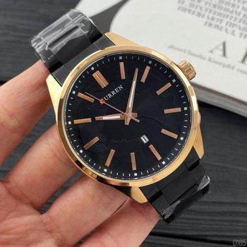 Наручний годинник AlexMosh чоловічі Curren Black-Gold (1027)