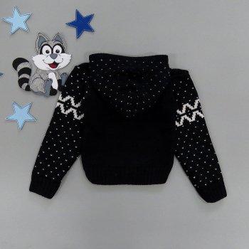 Вязаная кофта Merzan для мальчика Темно-синяя 17439