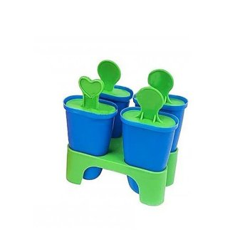 Формы для мороженого пластик 4 штуки в наборе 11см Синий Stenson (R21144с)