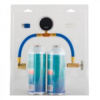 Холодоагент Natural Refrigerants Аерозольний балончик / набір для заправки автомобільного кондиціонера 340 ml ECO134 (=2,7R134)