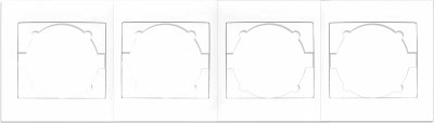 Четверна рамка Turbo Kaxige горизонтальна Біла (211705)