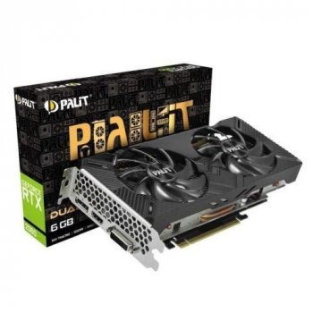 Відеокарта Palit RTX 2060 6Gb Dual (FR) (NE62060018J9-1160A), factory refurbished