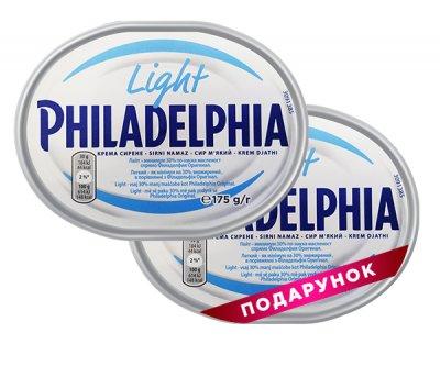 Набор сыров Philadelphia легкая 175 г, 1 + 1