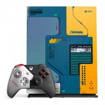 Microsoft Xbox One X 1TB Cyberpunk 2077 Limited Edition + Игра Cyberpunk 2077 – Digital Direct