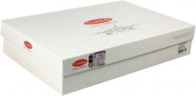 Комплект постільної білизни Hobby Exclusive Sateen Diamond Wafel 160х220 Krem (8698499137707)