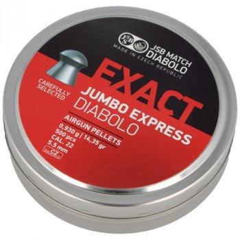 Пули пневм JSB Exact Jumbo Express, 5,52 мм , 0,930 г, 500 шт/уп