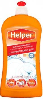 Упаковка средства для мытья посуды Helper антимикробного Ромашка 21 шт х 500 мл (4820183971142)