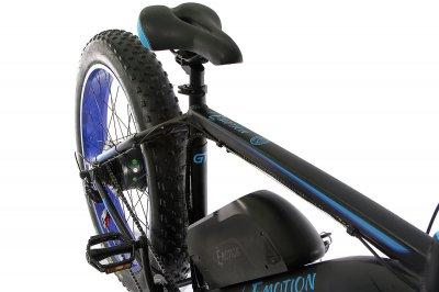 """Електровелосипед E-motion Fatbike GT 48V 15Ah 1000W 26"""" / рама 19"""" чорно-синій (EFBGT48151000-BB)"""